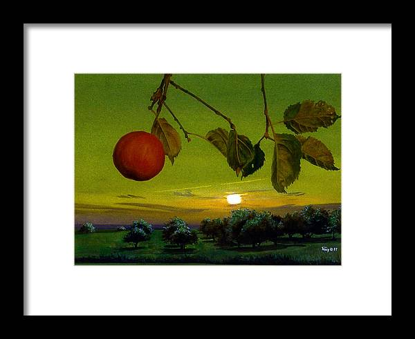 Apples Framed Print featuring the painting Apple Trees by Robert Tracy