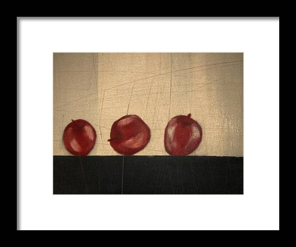 Still Life Framed Print featuring the mixed media Apples for Gayle by Joseph Ferguson
