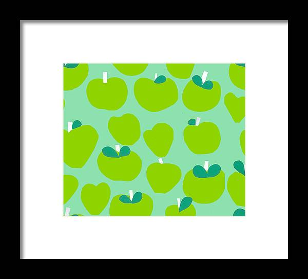 Apples Framed Print featuring the painting Apples by Samantha Barnes