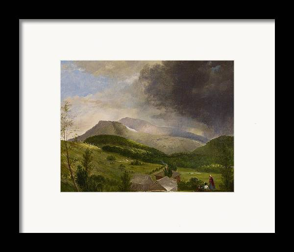 Couple Framed Print featuring the painting Approaching Storm White Mountains by Alvan Fisher