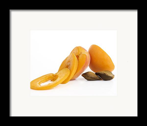 Food And Drink Framed Print featuring the photograph Apricots by Bernard Jaubert