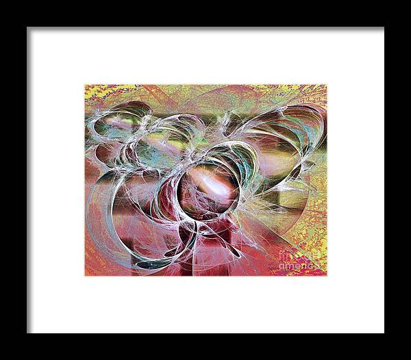 Abstract Framed Print featuring the digital art Arabesque Design by Leona Arsenault