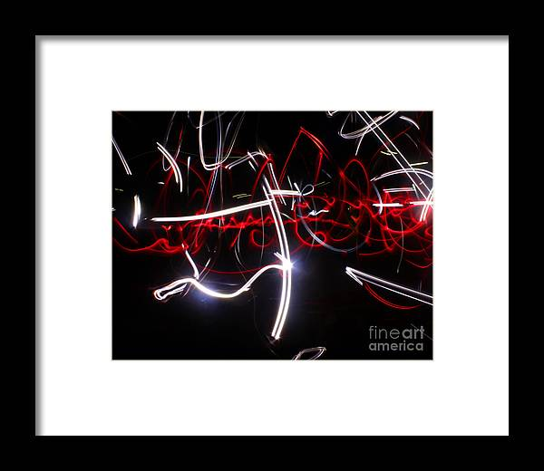 Light Framed Print featuring the photograph Arabian Night...light Painting by Adam Long