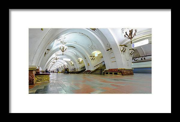 Arch Framed Print featuring the photograph Arbatskaya Metro by Mordolff