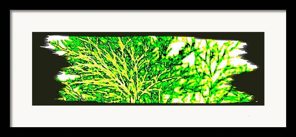 Arbres Verts Framed Print featuring the digital art Arbres Verts by Will Borden