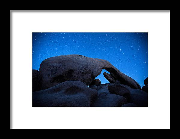 America Framed Print featuring the photograph Arch Rock Starry Night 2 by Stephen Stookey