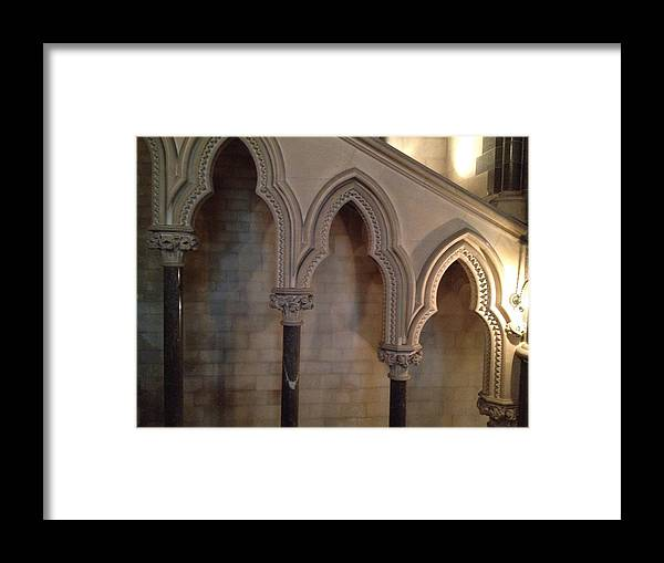 Photograph Framed Print featuring the photograph Arch Shadows by Nicole Parks