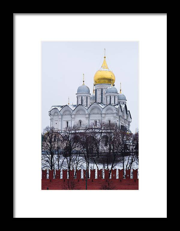 Ancient Framed Print featuring the photograph Archangel Cathedral Of Moscow Kremlin - Featured 3 by Alexander Senin