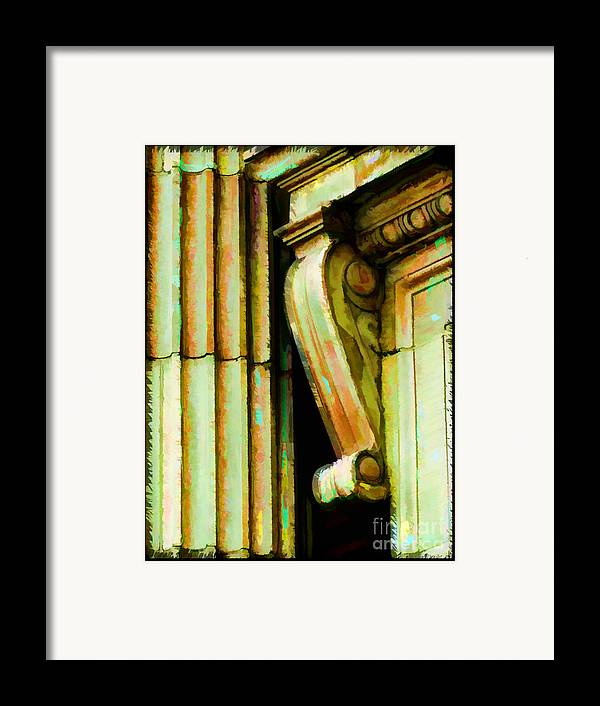 Architectural Elements Framed Print featuring the photograph Archatectural Elements Digital Paint by Debbie Portwood