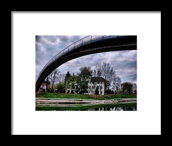 Arched Framed Print featuring the photograph Arched Bridge by Janos Kovac