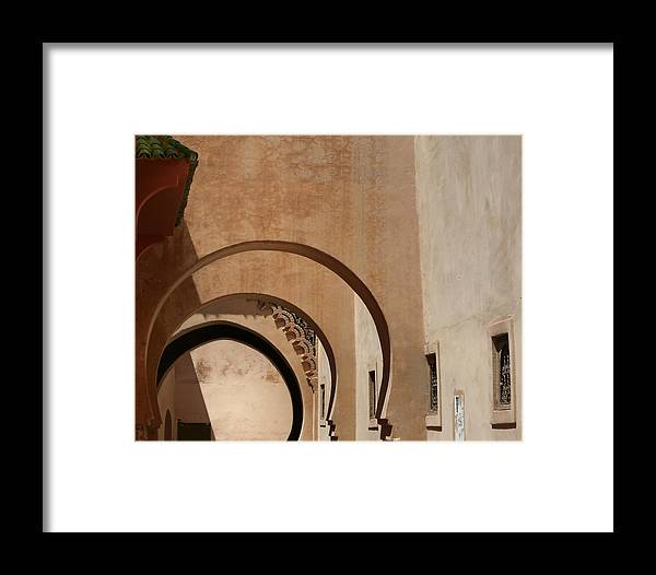 Architecture Framed Print featuring the photograph Arches by A Rey