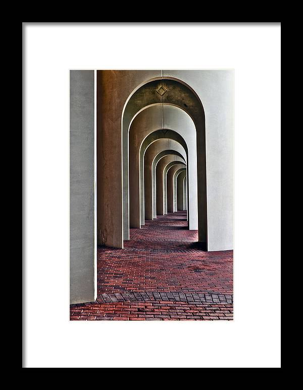 Cnu Framed Print featuring the photograph Arches Of Ferguson Center by Jerry Gammon