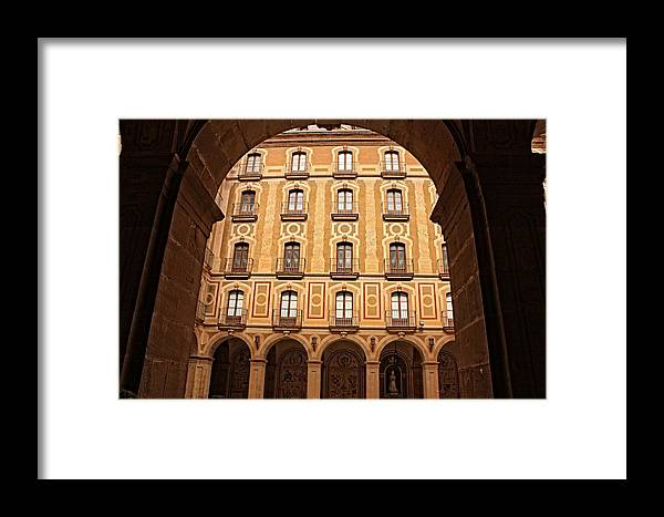 Europe Framed Print featuring the photograph Arches Of Montserrat Monastery Catalonia Spain by Nick Difi