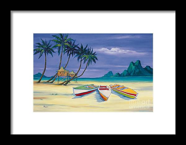Boat Framed Print featuring the painting Archipelago II by Paul Brent