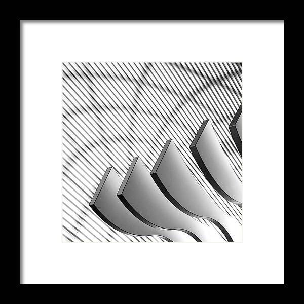 Shadow Framed Print featuring the photograph Architectural Abstract 4 - Interior Of by Lubilub