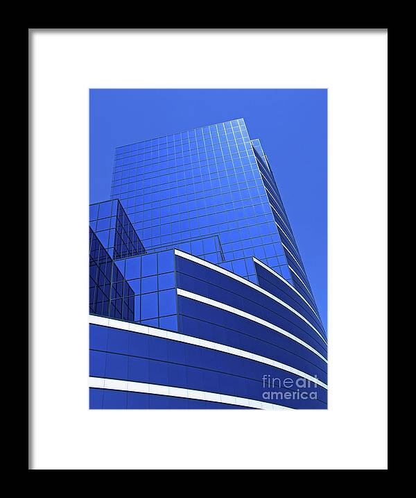 Architecture Framed Print featuring the photograph Architectural Blues by Ann Horn