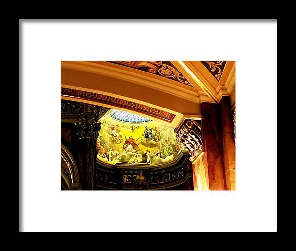 Basilica Of Saint Josaphat Framed Print featuring the photograph Architectural Detail At Basilica by Karen Majkrzak