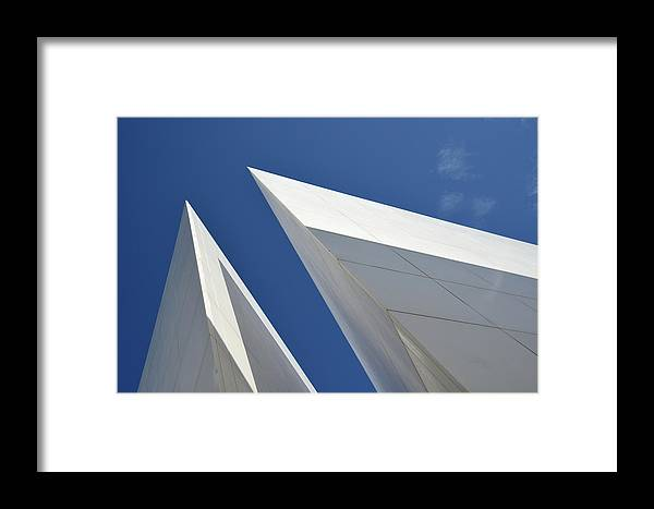Tranquility Framed Print featuring the photograph Architectural Details by Martial Colomb