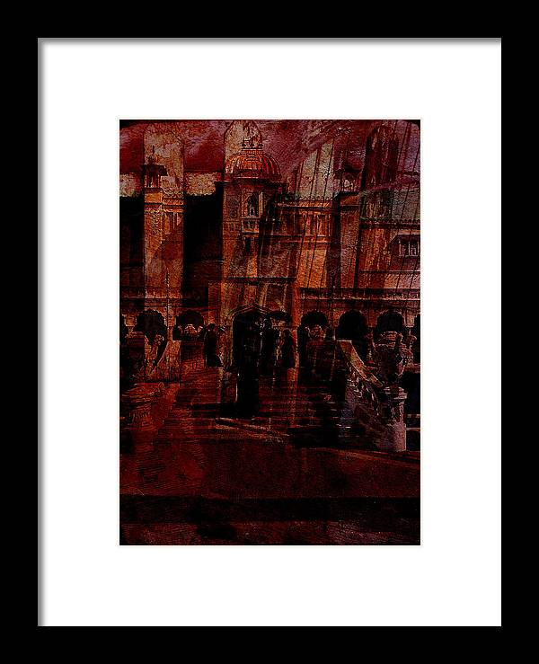 Architectural Oddity Framed Print featuring the digital art Architectural Oddity by Sarah Vernon