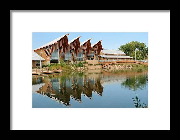 Dakota Framed Print featuring the photograph Architectural Reflections by Dakota Light Photography By Dakota