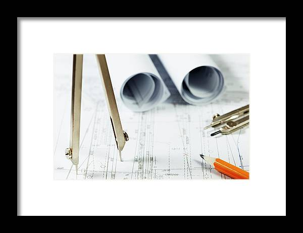 Civil Engineering Framed Print featuring the photograph Architecture Planning by Kalasek