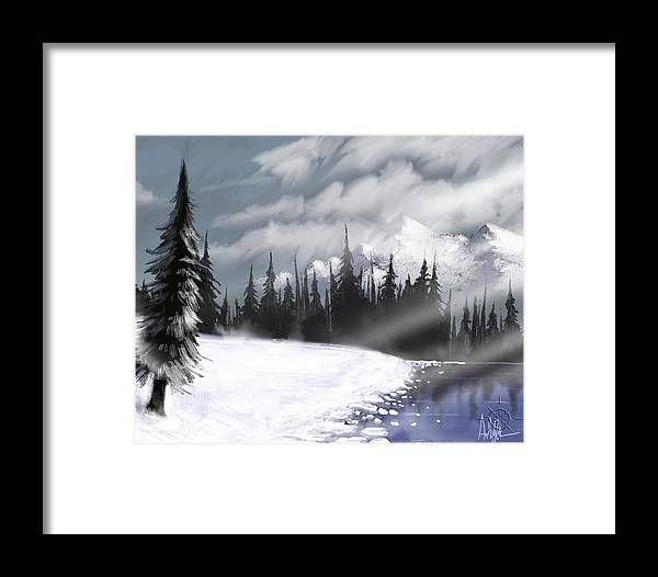 Landscape Framed Print featuring the digital art Arctic Morning by Anthony Duran