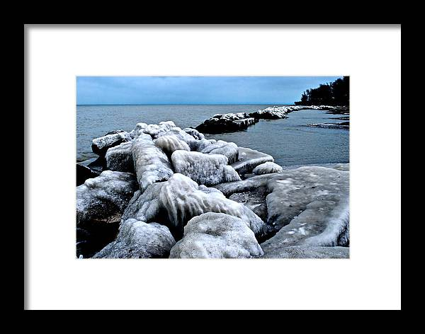 Freezing Framed Print featuring the photograph Arctic Waters by Frozen in Time Fine Art Photography