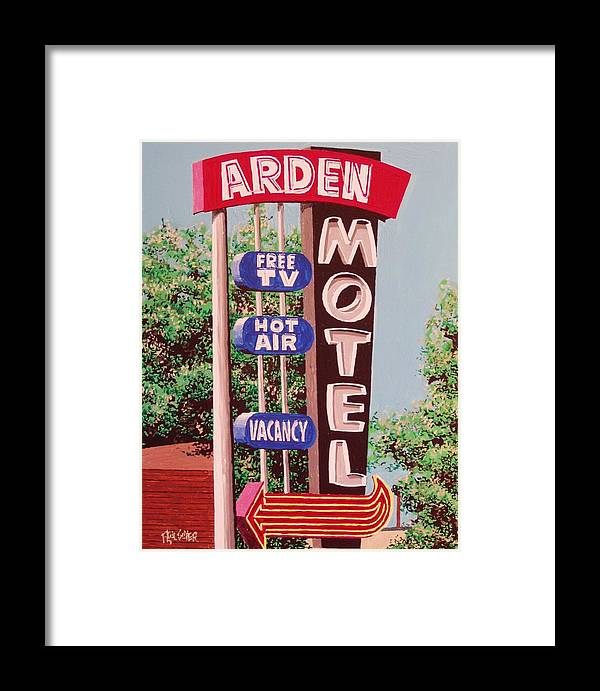 Sacramento Framed Print featuring the painting Arden Motel by Paul Guyer