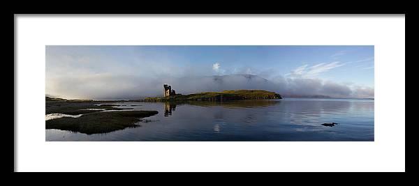 Ancient Framed Print featuring the photograph Ardvreck Castle by Derek Beattie