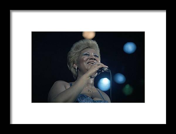 Aretha Framed Print featuring the photograph Aretha Franklin by Nancy Clendaniel