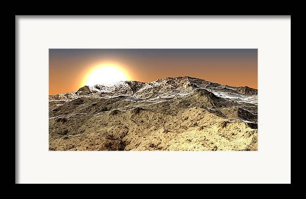 Fine Art Framed Print featuring the photograph Arid by Kevin Trow