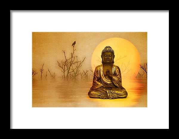 Peaceful Framed Print featuring the photograph Arising Glory by manhART