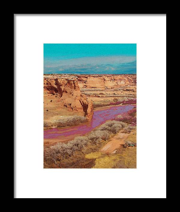 Digital Framed Print featuring the digital art Arizona 2 by David Hansen