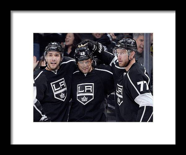 National Hockey League Framed Print featuring the photograph Arizona Coyotes V Los Angeles Kings by Harry How