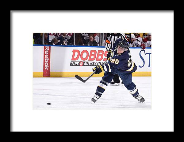 National Hockey League Framed Print featuring the photograph Arizona Coyotes V St Louis Blues by Scott Rovak