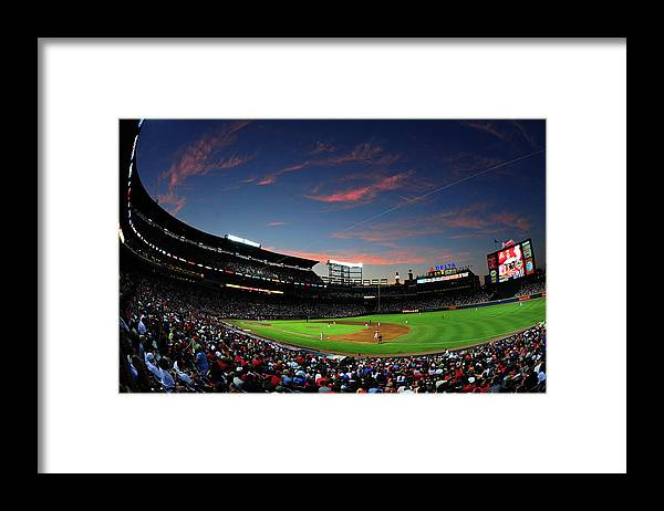 Atlanta Framed Print featuring the photograph Arizona Diamondbacks V Atlanta Braves by Scott Cunningham