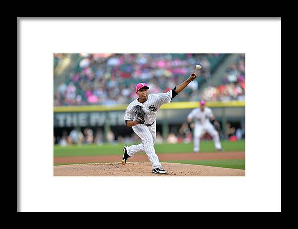 American League Baseball Framed Print featuring the photograph Arizona Diamondbacks V Chicago White Sox by Brian Kersey