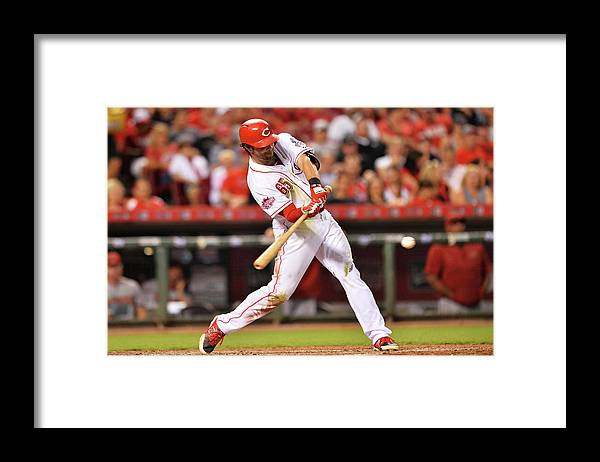 Great American Ball Park Framed Print featuring the photograph Arizona Diamondbacks V Cincinnati Reds by Jamie Sabau