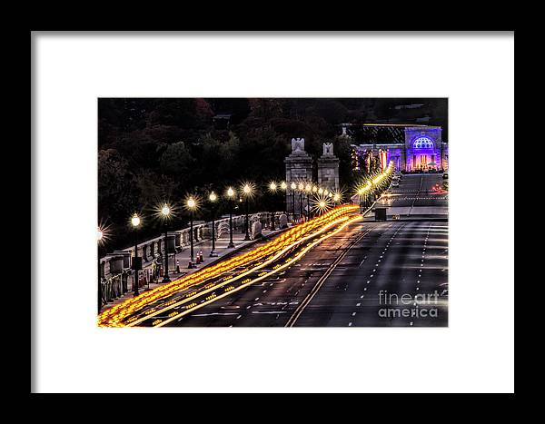 Washington Dc Framed Print featuring the photograph Arlington Bridge And Cemetery by Izet Kapetanovic