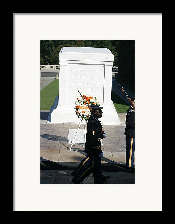 Arlington Framed Print featuring the photograph Arlington National Cemetery - Tomb Of The Unknown Soldier - 121213 by DC Photographer