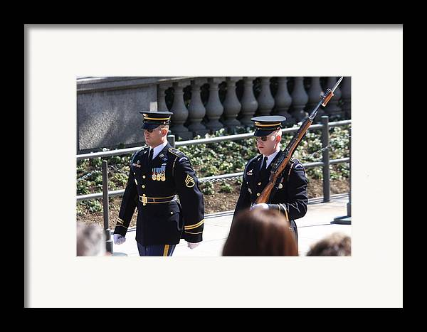Arlington Framed Print featuring the photograph Arlington National Cemetery - Tomb Of The Unknown Soldier - 121223 by DC Photographer