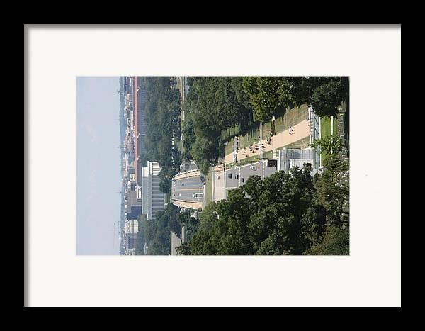 Arlington Framed Print featuring the photograph Arlington National Cemetery - View From Arlington House - 12125 by DC Photographer