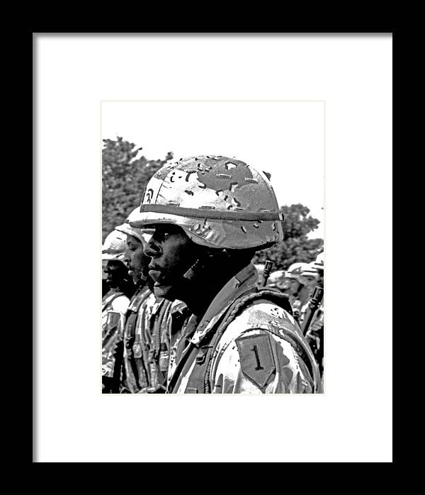 U.s. Military Photographs Framed Print featuring the photograph Army Strong by James Bryant