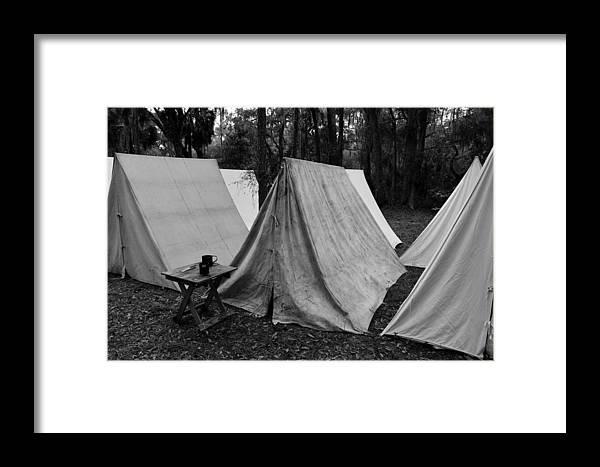 Army Tents Circa 1800s Framed Print