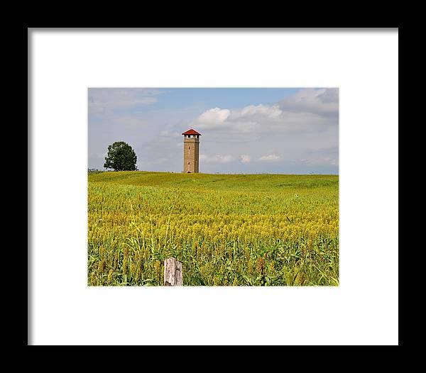 Antietam Battlefield Framed Print featuring the photograph Army War College Tower Antietam by William Fox