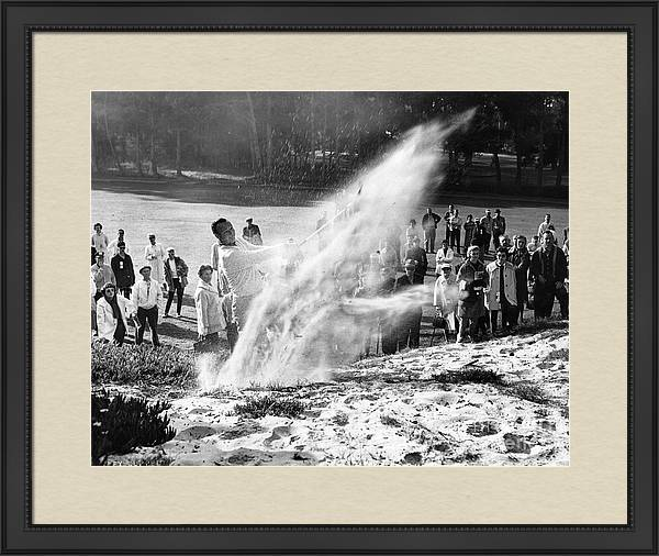 Arnold Palmer at Pebble Beach California Rey Ruppel Photo Circa 1955 by California Views Archives Mr Pat Hathaway Archives