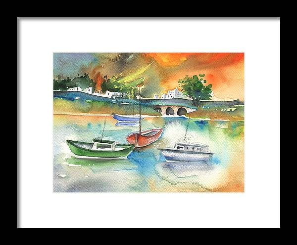 Travel Framed Print featuring the painting Arrecife In Lanzarote 16 by Miki De Goodaboom