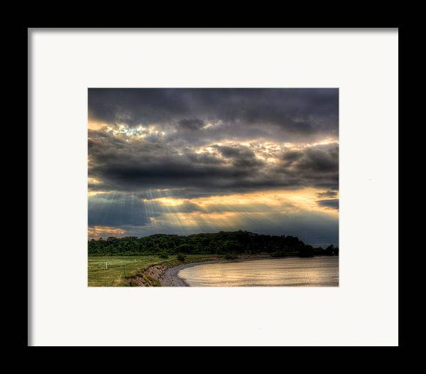 Lake Ontario Framed Print featuring the photograph Art For Crohn's Lake Ontario Sun Beams by Tim Buisman