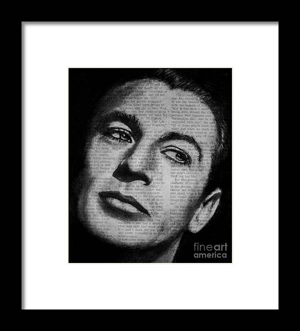 Gary Cooper Framed Print featuring the drawing Art In The News 35-gary Cooper by Michael Cross