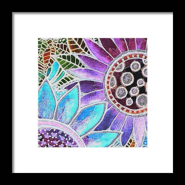 Watercolor Framed Print featuring the photograph #art# #watercolor #digitalart #altered by Robin Mead